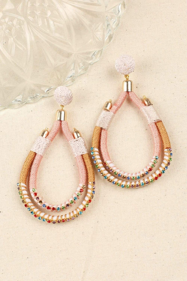Adrift Clothing Earrings Pink / O/S Clara Earrings in Pink