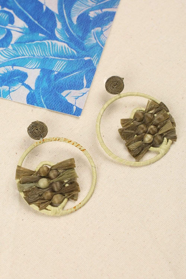 Naya Earrings in Olive
