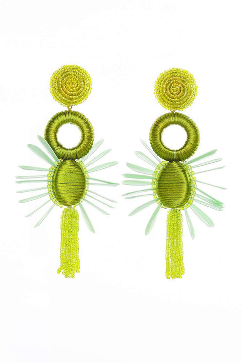 Adrift Clothing Earrings Olive / O/S Ziva Earrings in Olive