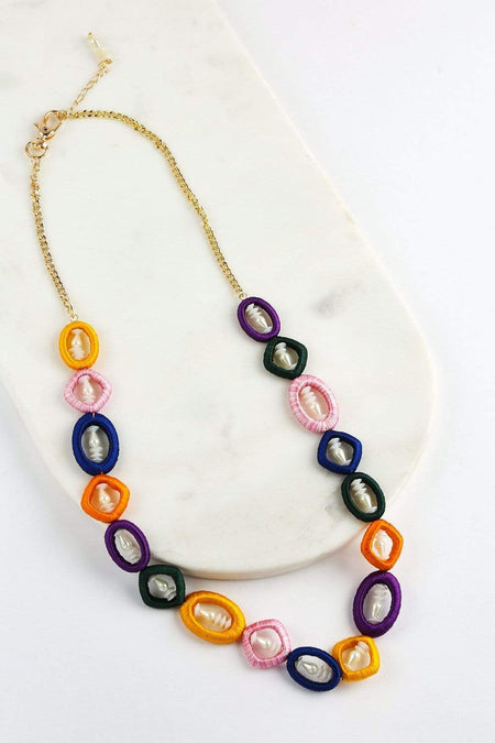 Adrift Clothing Necklace Multi / O/S Retro Linked Necklace in Multi