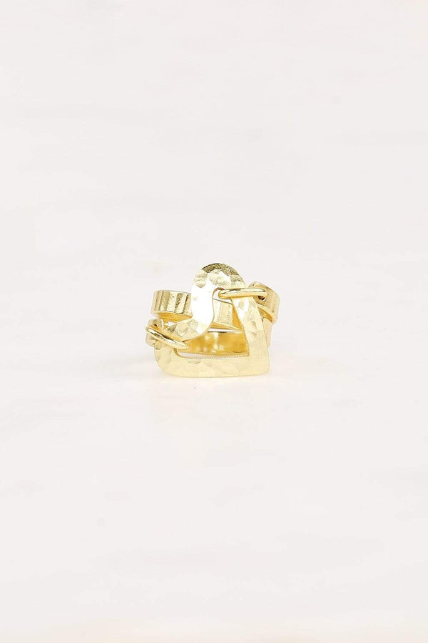 Adrift Clothing Ring Gold / O/S Love Heart Ring in Gold