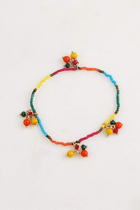 Adrift Manufactured - Rashimi Bracelet Multi / O/S Colourful Beaded Bracelet in Multi