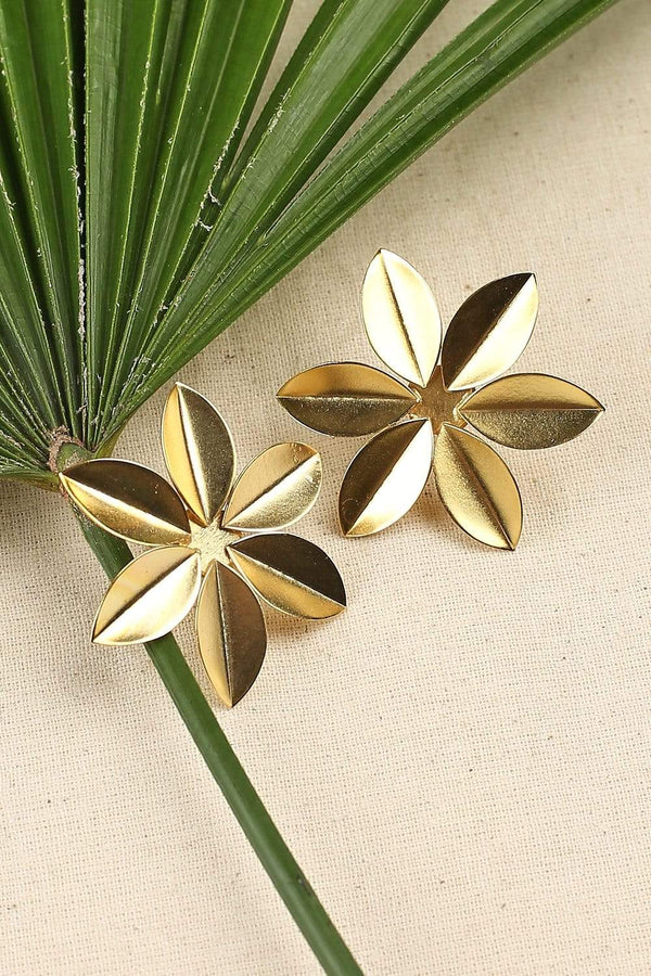 Adrift Manufactured - Rashimi Earrings Gold / O/S Flower Studs in Gold