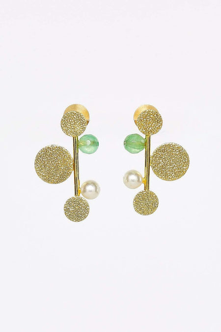 Adrift Manufactured - Rashimi Earrings Gold / O/S Funky Post Earrings in Gold