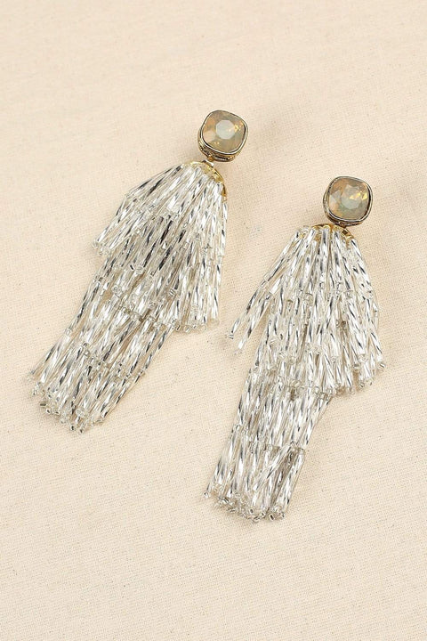 Adrift Manufactured - Shaving Earrings Gold / O/S Statement Fringe Earrings in Gold