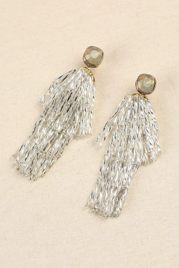 Statement Fringe Earrings in Gold