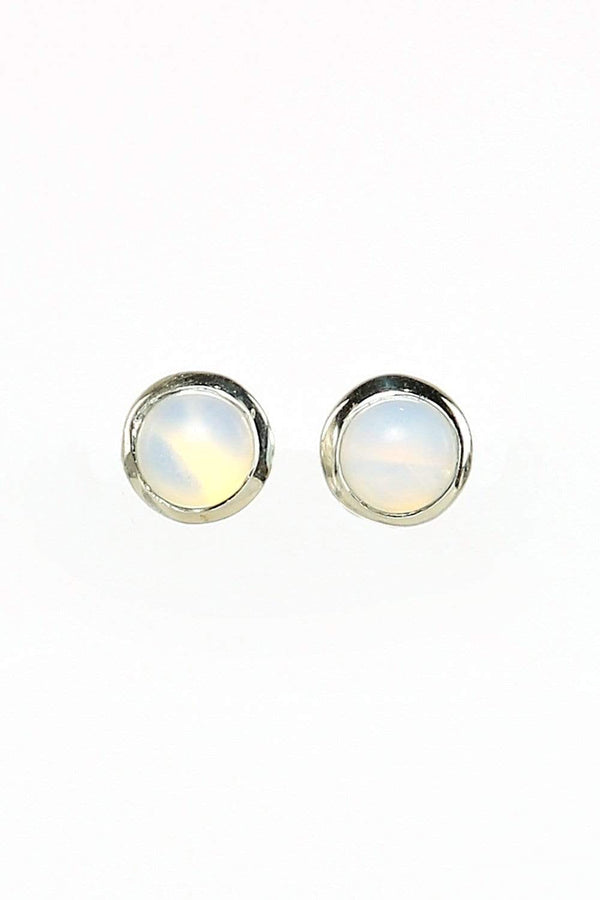 Adrift Manufactured - Shyam Craft Earrings Silver / O/S Opal Stud Earrings in Silver