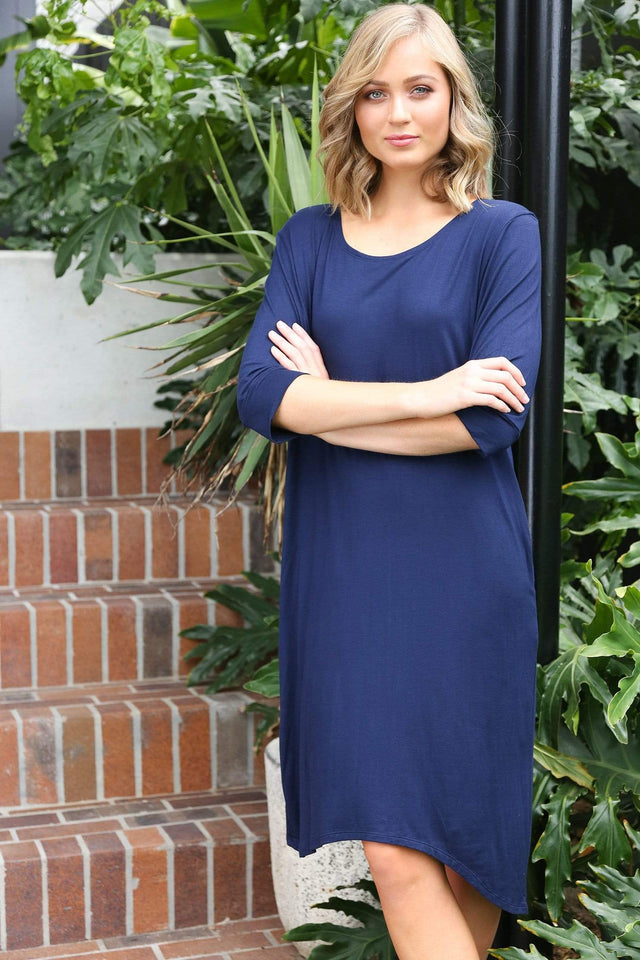 Basics By Adrift Dress Sportif Dress in Navy
