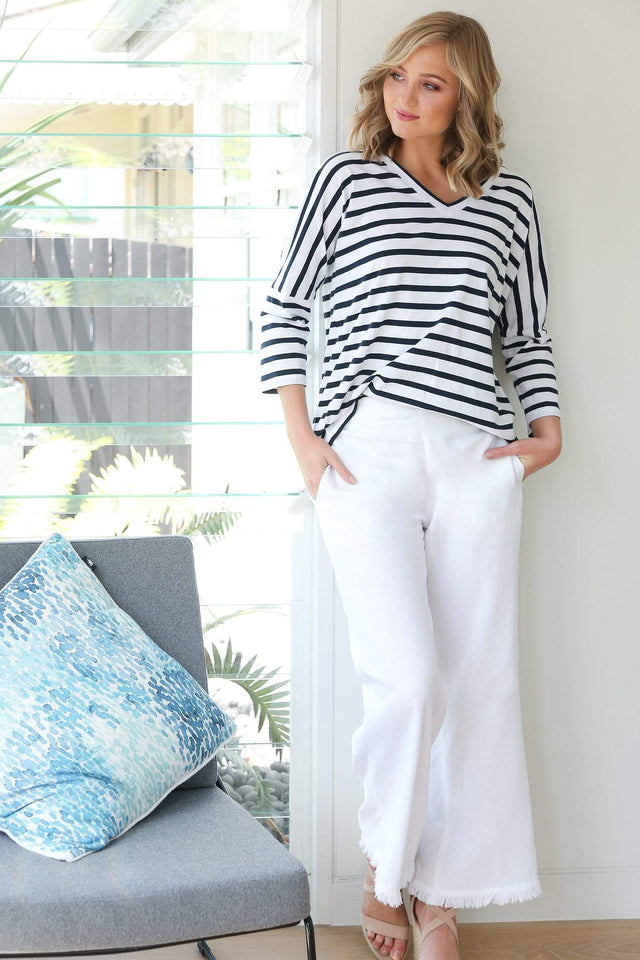 Basics By Adrift Pant Wide Leg Pant in White