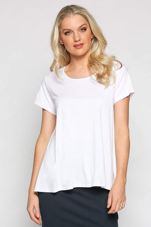 Basics By Adrift Top Swing Tee in White
