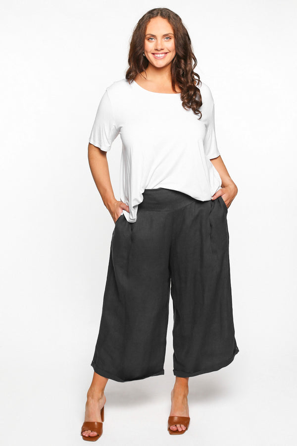 Lily Wide Leg Pant in Black