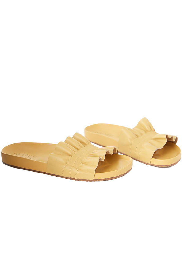Posey Leather Slide in Chamomile