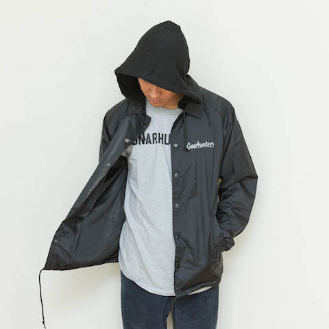 Classic fleece hooded coaches jacket