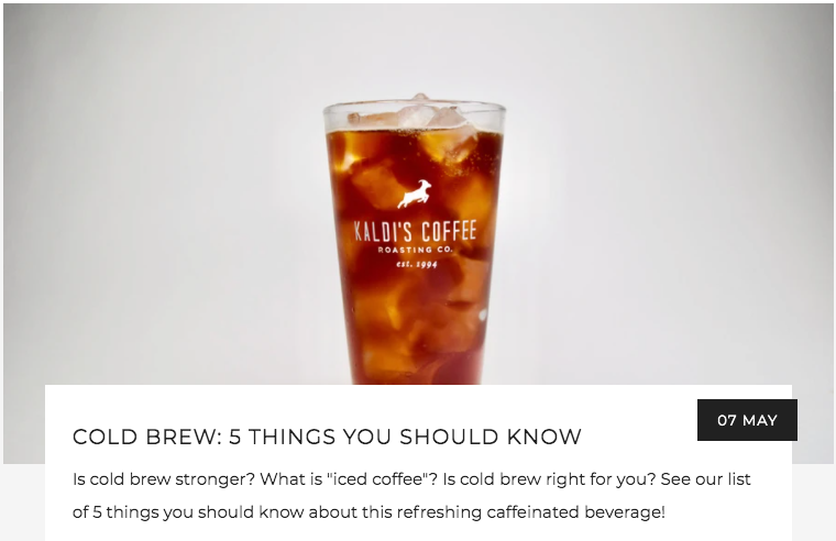 Cold Brew: 5 Things You Should Know | Kaldi's Coffee Blog