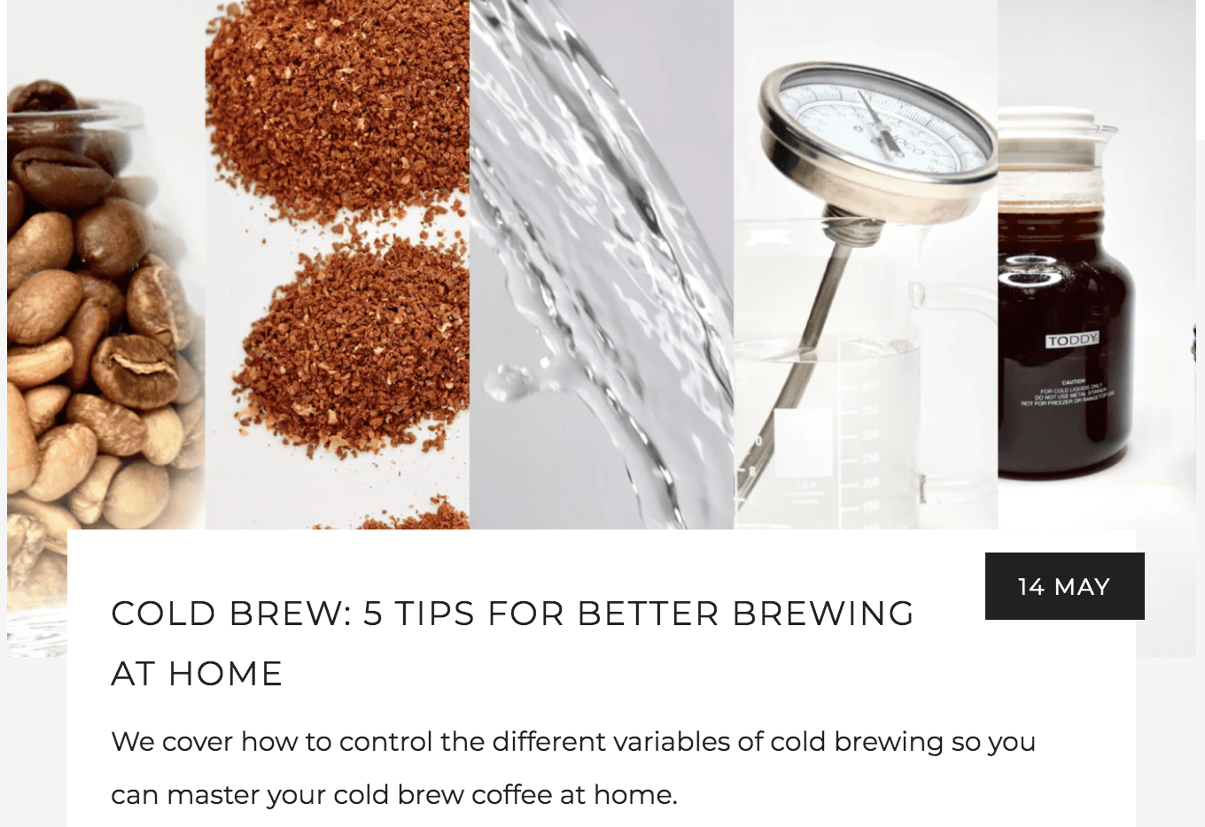 Cold Brew: 5 Tips for Better Brewing At Home | Kaldi's Coffee Blog