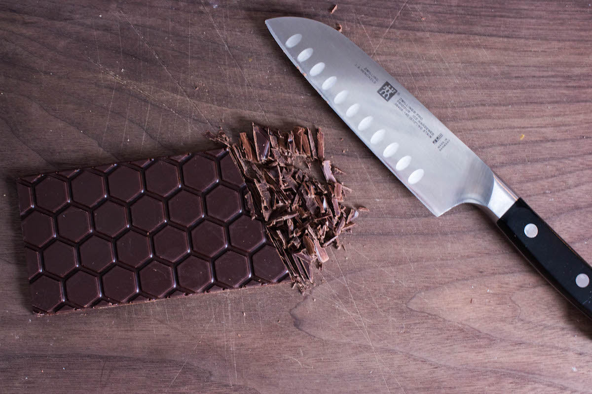 A Honeymoon Chocolate Bar next to a knife
