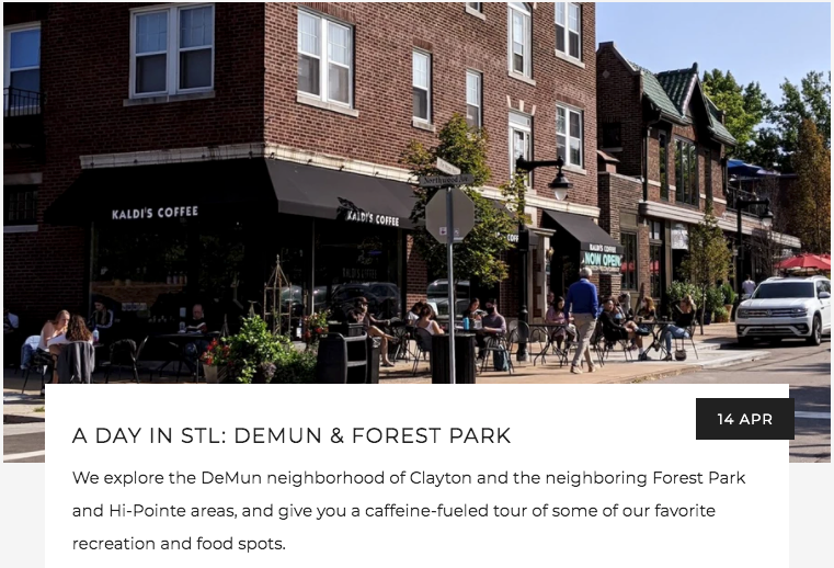 Day in STL: DeMun and Forest Park | Kaldi's Coffee Blog