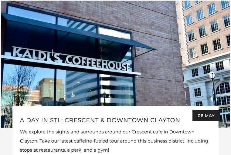 A Day in STL: Crescent & Downtown Clayton | Kaldi's Coffee Blog