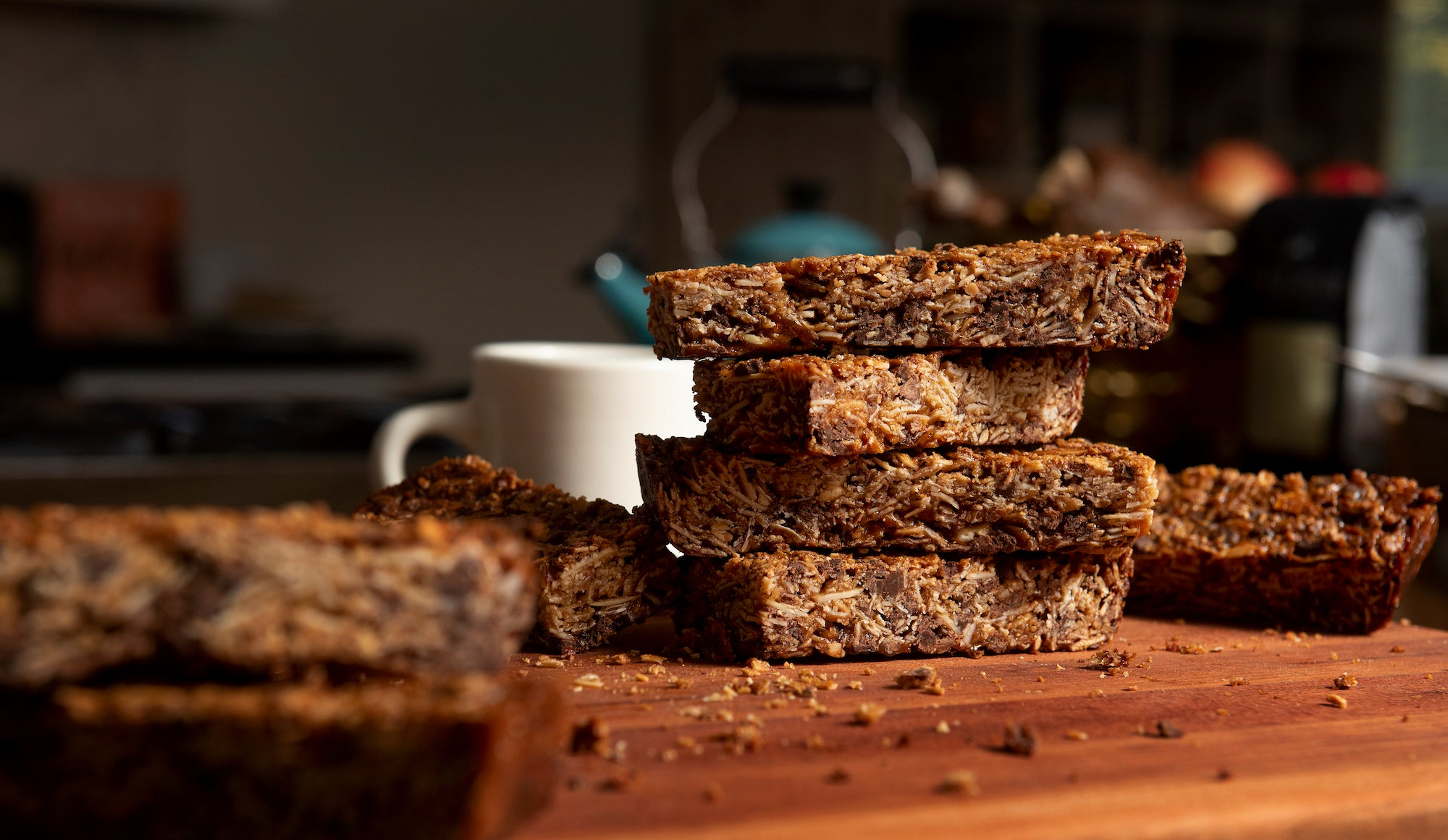 Kaldi's Coffee Granola Bar Cut Into Bars - At Home Granola Bar Recipe!
