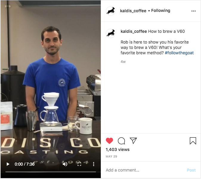 Brewing Coffee with the V60 | Kaldis' IGTV