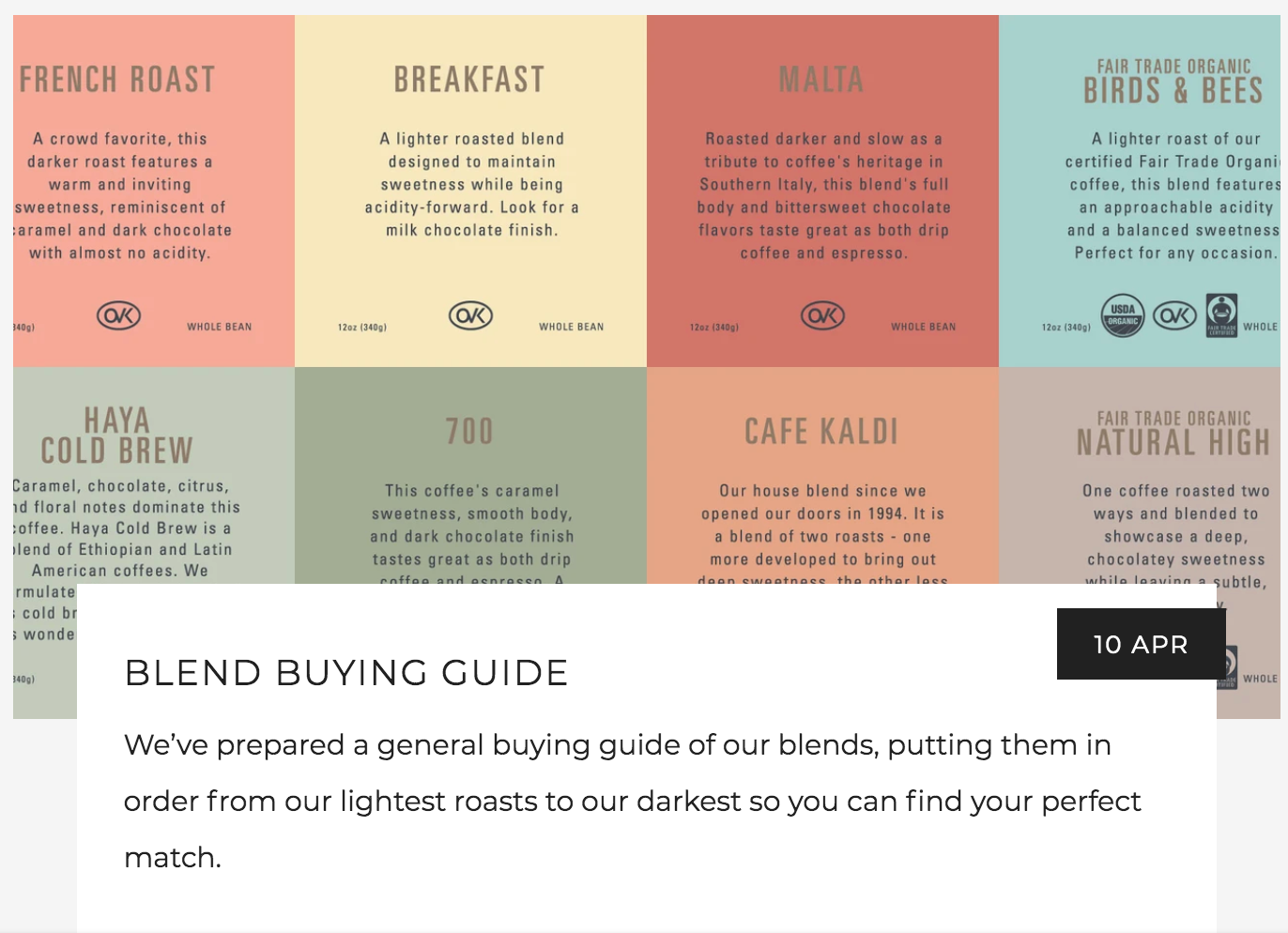 Kaldi's Coffee Blend Buying Guide - Which Coffee Blend Is Right For You?