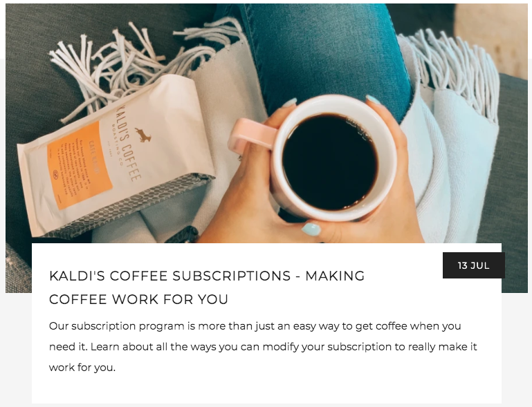 Making a Coffee Subscription Work For You | Kaldi's Coffee Blog