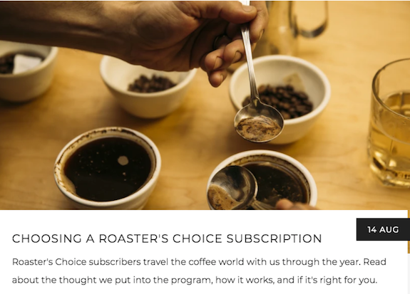 Coffee Cupping Bowls on a table, leading to Choosing a Roaster's Choice Coffee Subscription | Kaldi's Coffee Blog