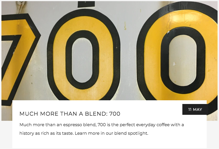 Much More Than a Blend: 700 | Kaldi's Coffee Blog