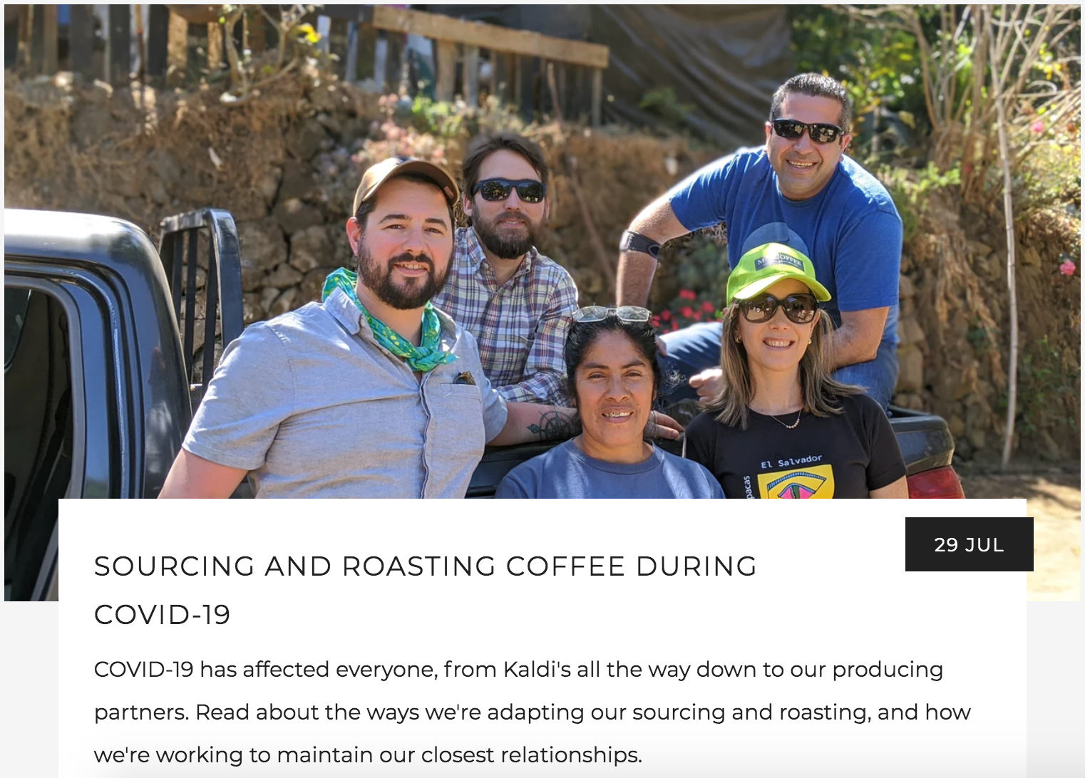 Sourcing and Roasting During COVID-19 | Kaldi's Coffee Blog