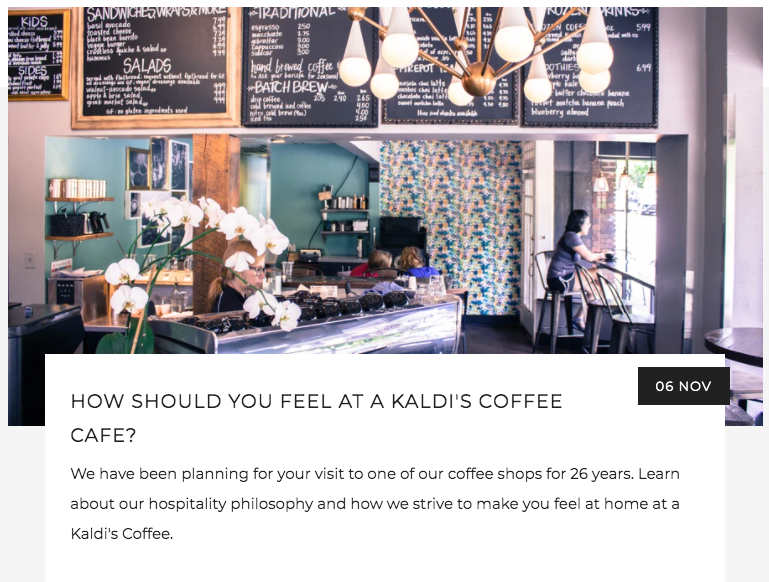 How Should You Feel at a Kaldi's Coffee Cafe? | Kaldi's Coffee Blog