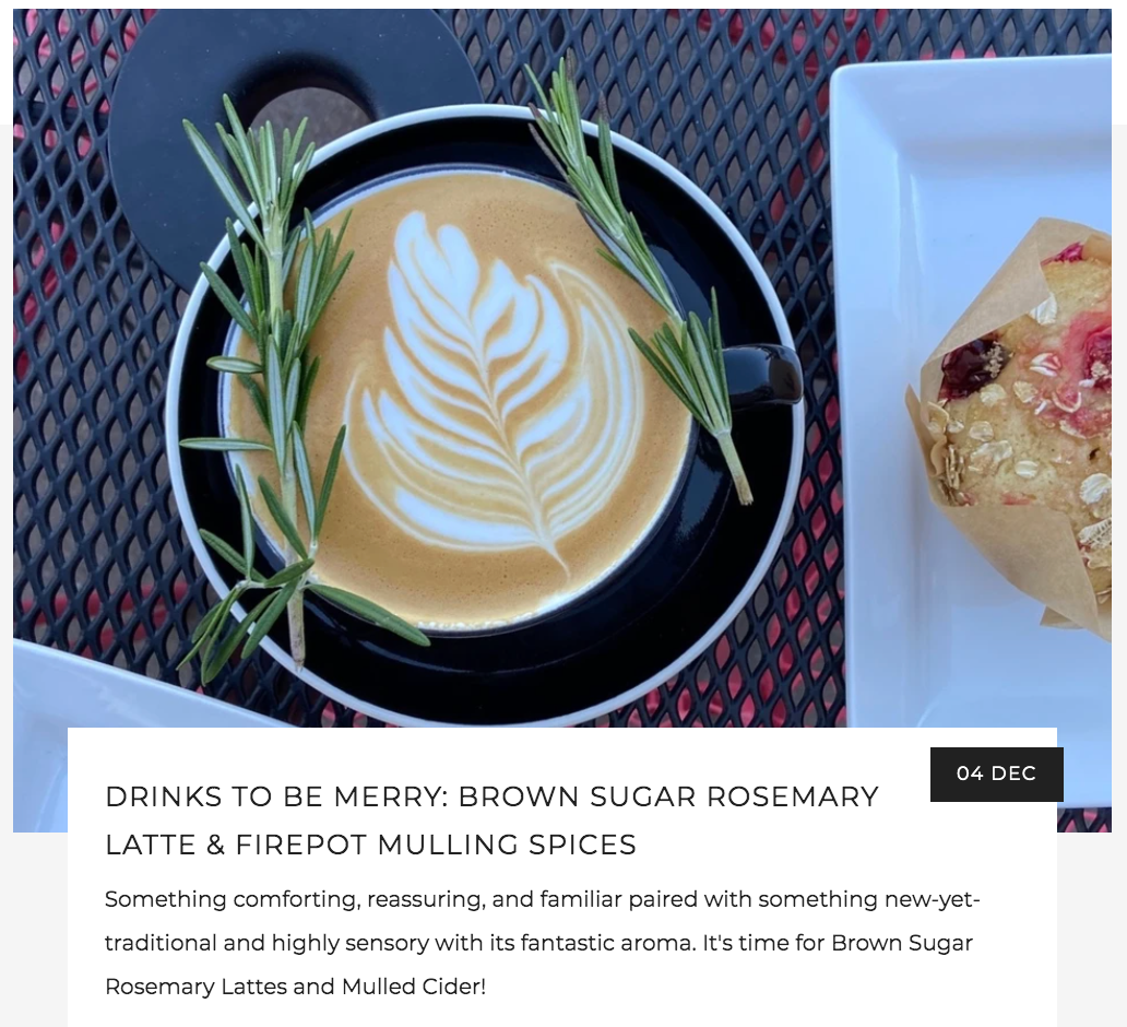 Brown Sugar Rosemary Latte and Mulled Cider Blog