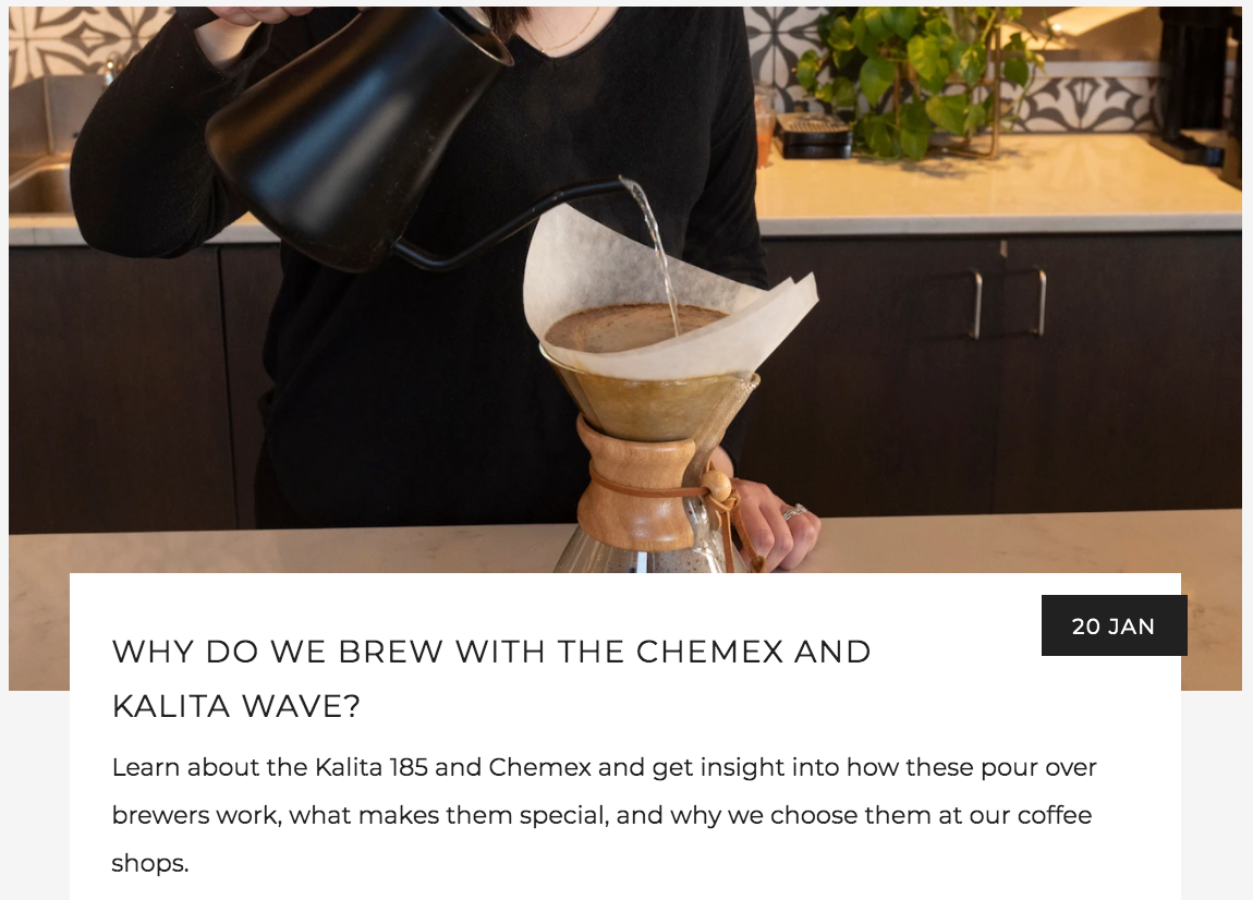 Why Do We Brew With the Chemex and Kalita Wave Blog Picture