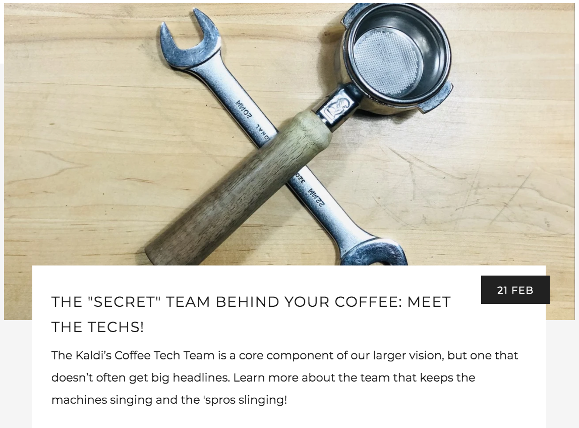 The Secret Team Behind Your Coffee - Meet the Techs!