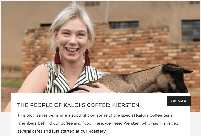 The People of Kaldi's Coffee: Kiersten | Kaldi's Coffee Blog
