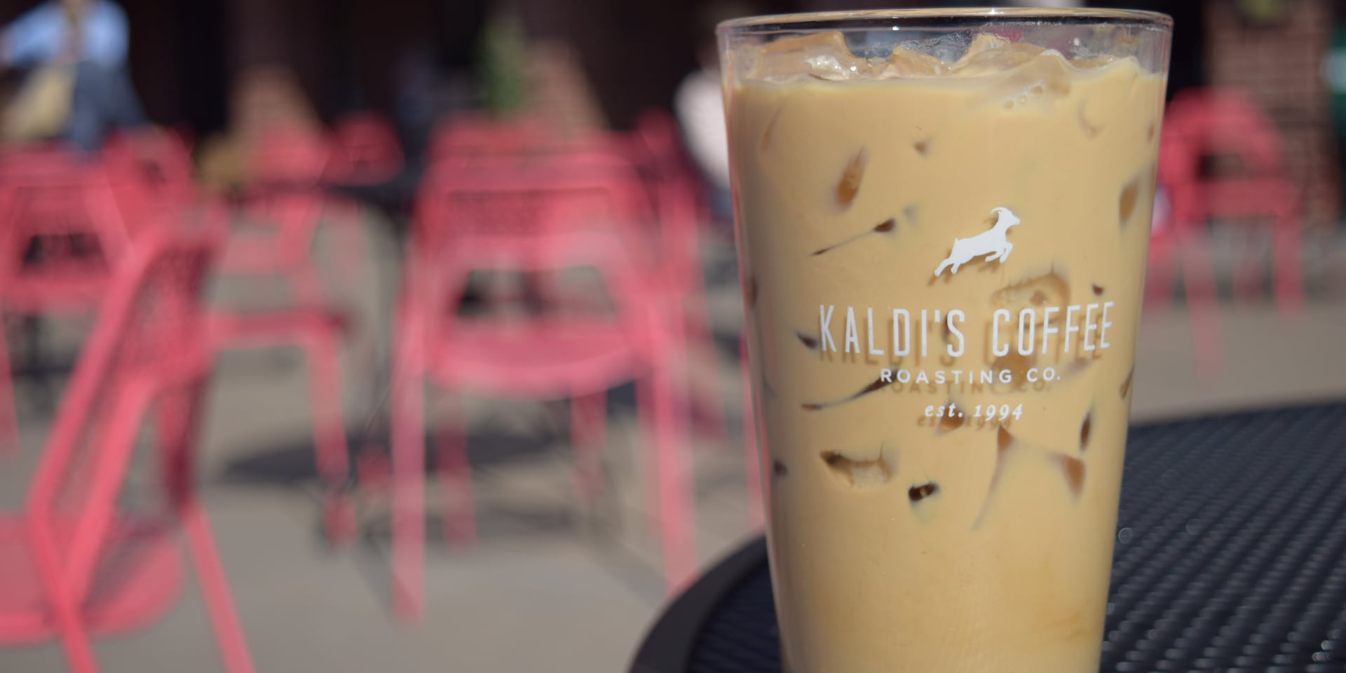 Iced Vanilla Latte in a glass