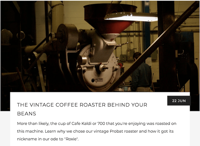 The Vintage Coffee Roaster Behind Your Beans | Kaldi's Coffee Blog