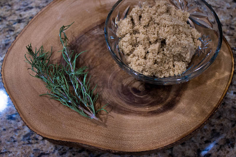 Brown Sugar and Rosemary for our Signature Brown Sugar Rosemary Latte