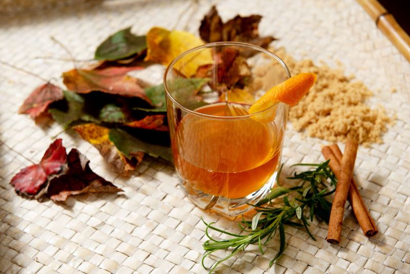 Brown Sugar Rosemary Old Fashioned Drink - Get the Recipe on Our At Home page!