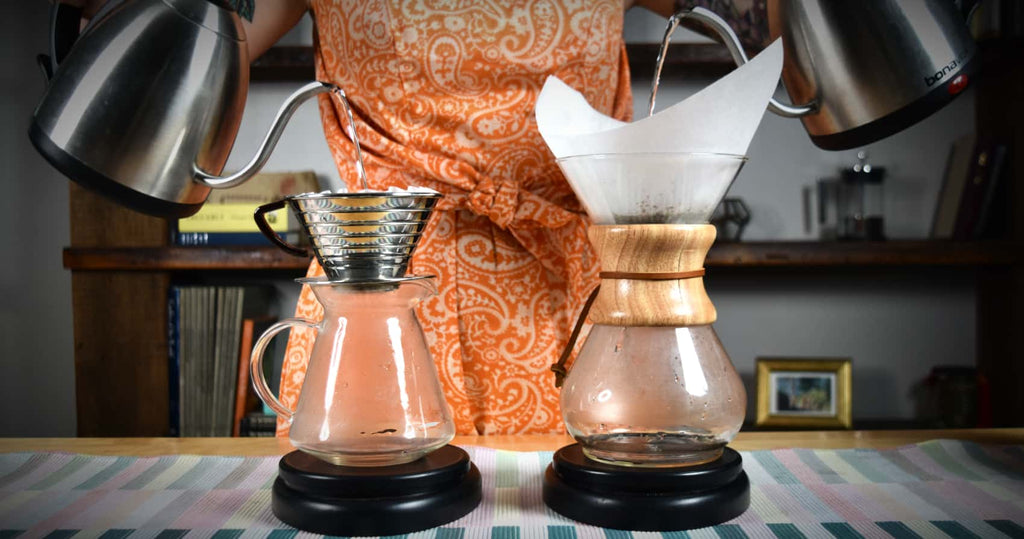 Brewing on a Chemex and Kalita