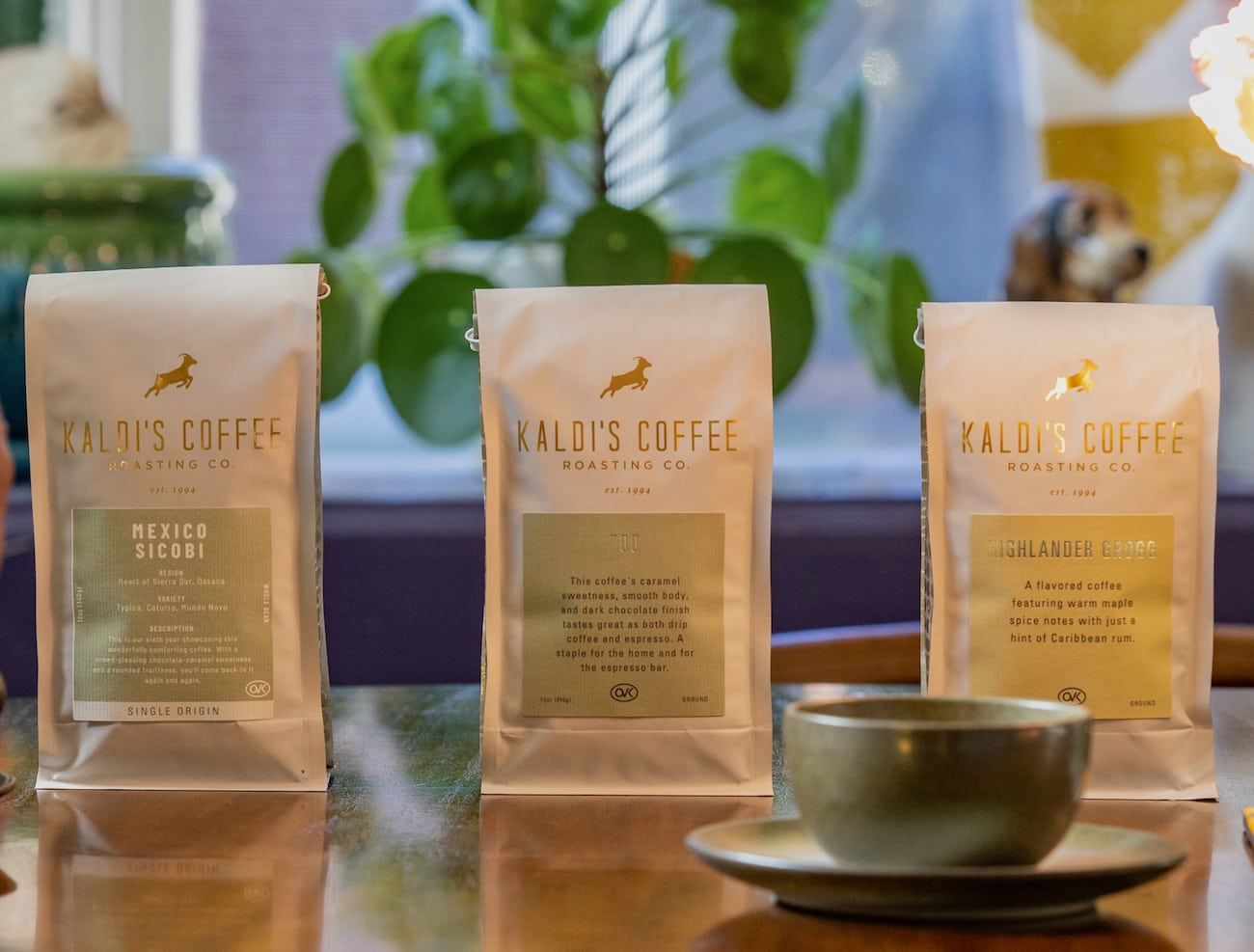 3 bags of Kaldi's Coffee Blends