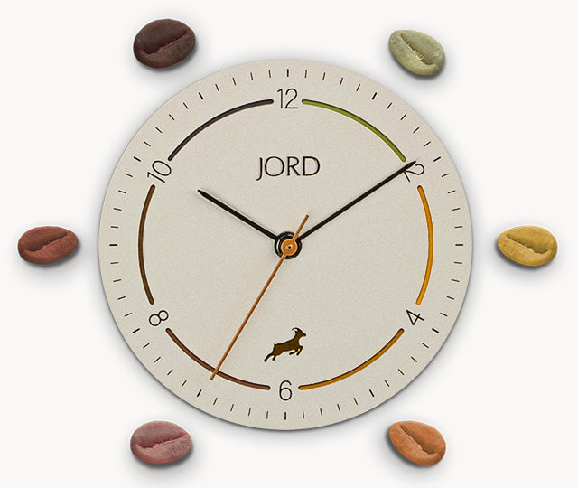 The Dial on the Jord Coffee Watch