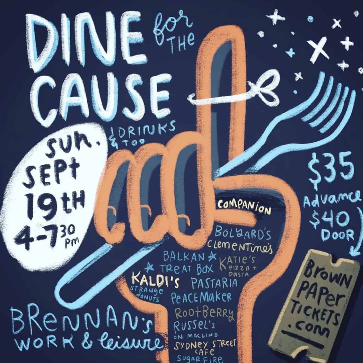 Dine for the Cause 2021 flyer