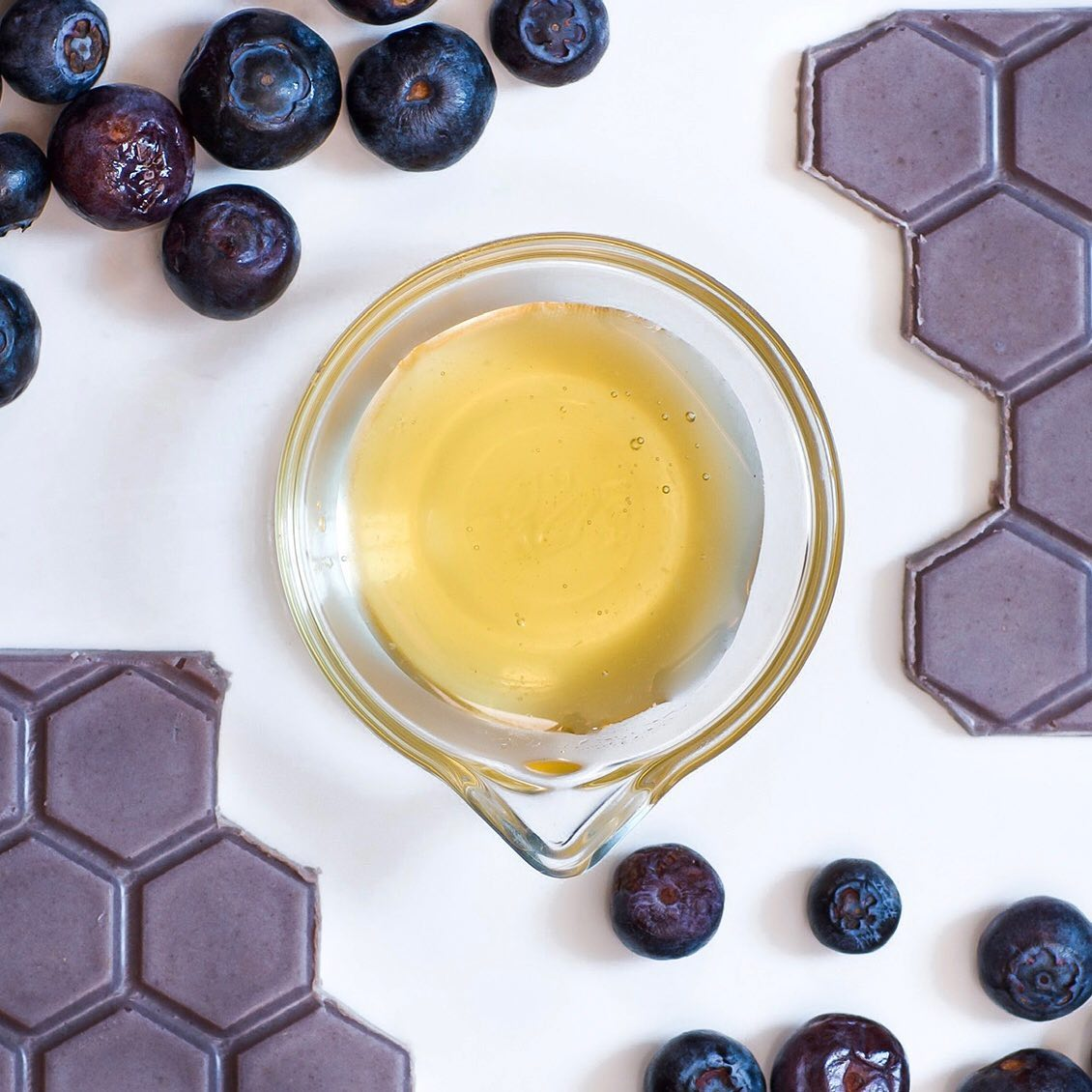 Honey, blueberries, and chocolate - instead of sugars and artificial sweeteners, Honeymoon Chocolates uses honey in their chocolate bars.