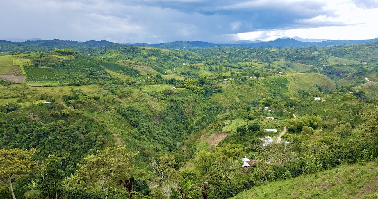 The farm of Carlos Imbachi in Colombia
