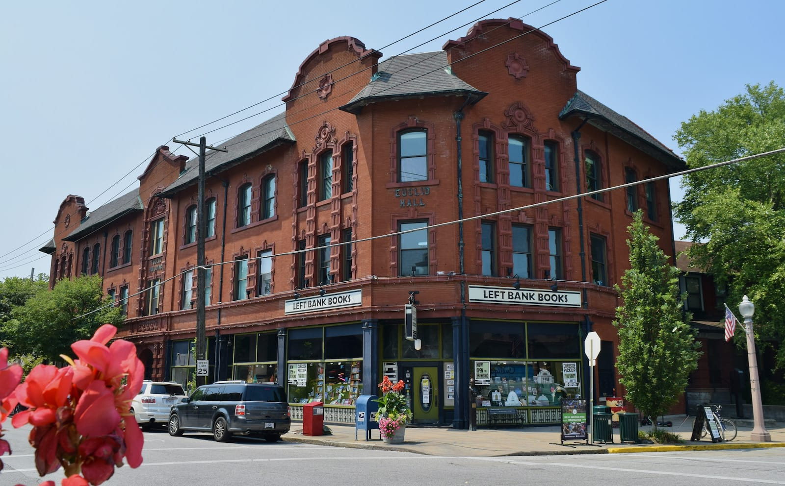 The corner of Left Bank Books in the Central West End