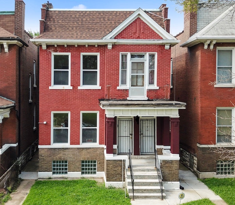 A Rehabilitated Home in North St. Louis through the work of Brace for Impact