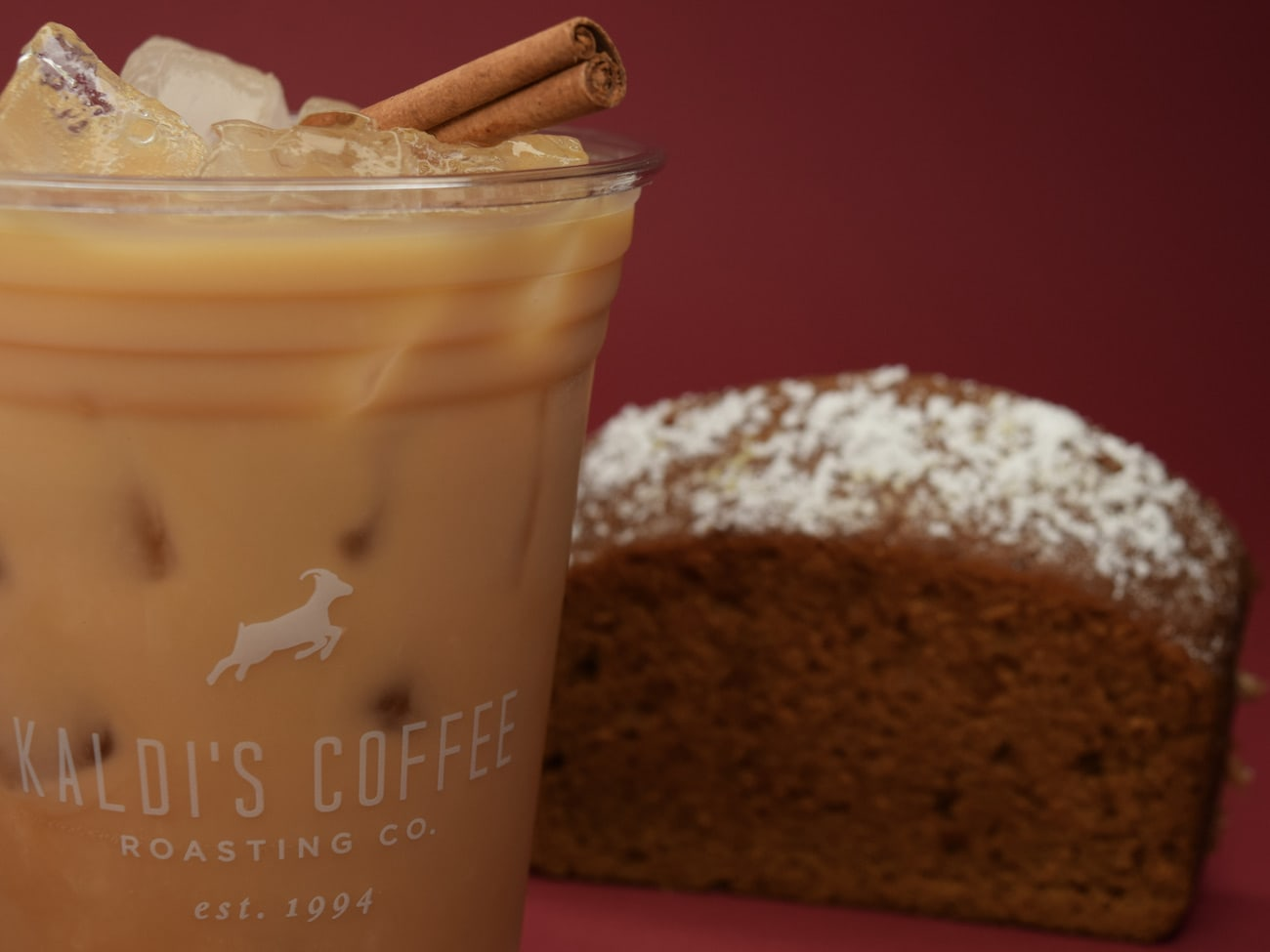 Oatchata Cold Brew from Kaldi's with pumpkin bread