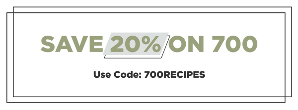 """Save 20% on 700 12oz and 5lb using code """"700Recipes"""""""