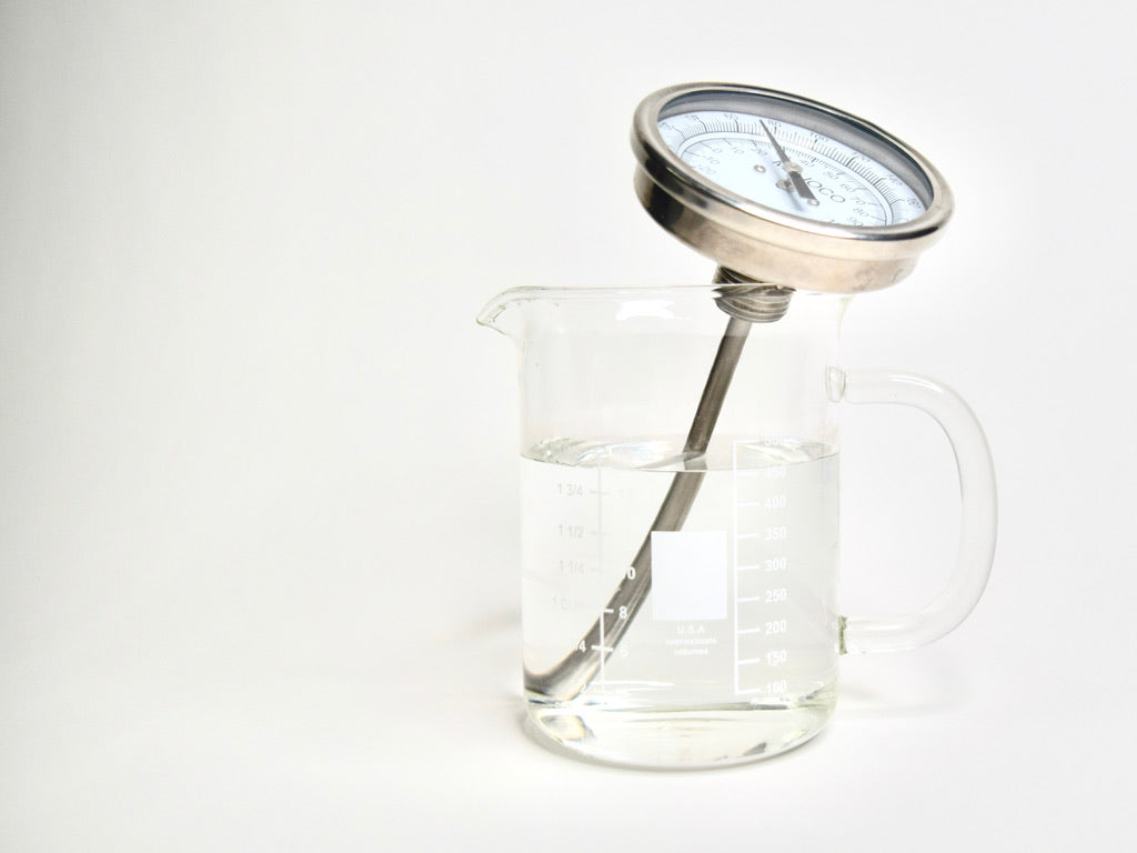 Thermometer in a water beaker