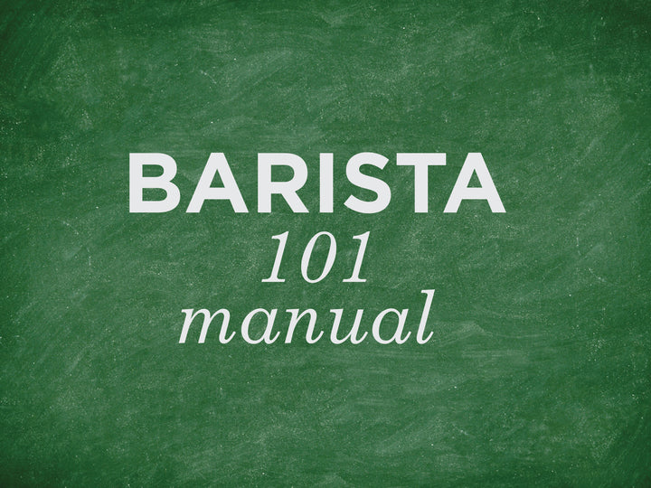 Barista 101: manual machines